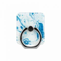 CYLO - White/Blue Marble Phone Ring Stand
