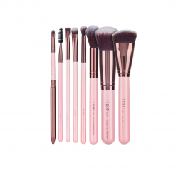 LUXIE – Rose Gold Complete Face Brush Set