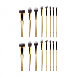 LUXIE - Glitter and Gold Brush Set (2x)