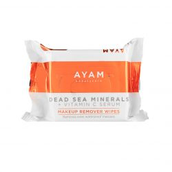 Ayam Beautycare - Dead Sea Minerals Vitamin C Serum Makeup Remover Wipes