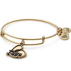Alex & Ani - 'Love' Charm Bangle