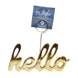 Concepts in Time - 6x5 HELLO Metal Desktop Memo Holder