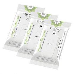 Cuccio Somatology - Fitness Equipment Cleansing Wipes - 3 packs of 12 wipes - Eucalyptus + Greek Mastiha