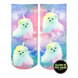 Living Royal - Unicorn Puppy Glow Ankle Socks