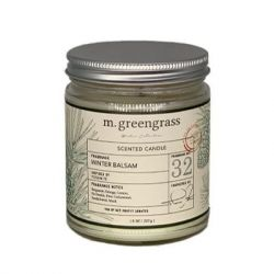 m. greengrass - 8 oz Glass Candle