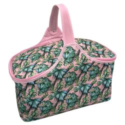 MyTagAlongs - PALM SPRINGS PICNIC COOLER BASKET - Print