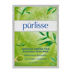Purlisse - MATCHA GREEN TEA Antioxidant Sheet Mask - 6 Pack - Matcha Green Tea