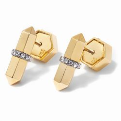 Via Saviene - Colette Studs - 14K Gold And Hematite Plating