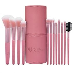 PÜR - Signature Travel Essentials 12-Piece Cruelty-Free Brush Set with Cup