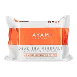 Ayam Beautycare - Dead Sea Minerals + Vitamin C Serum Makeup Remover Wipes - 1 Pack