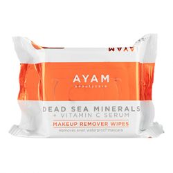 Ayam Beautycare - Dead Sea Minerals + Vitamin C Serum Makeup Remover Wipes- 1 Pack