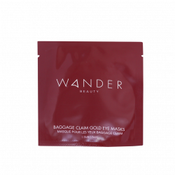 Wander Beauty – Baggage Claim Gold Eye Mask